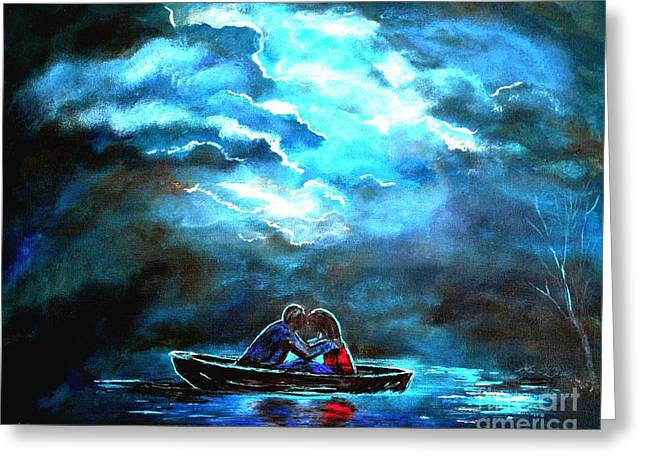 Surviving The Storm Greeting Card by Leslie Allen