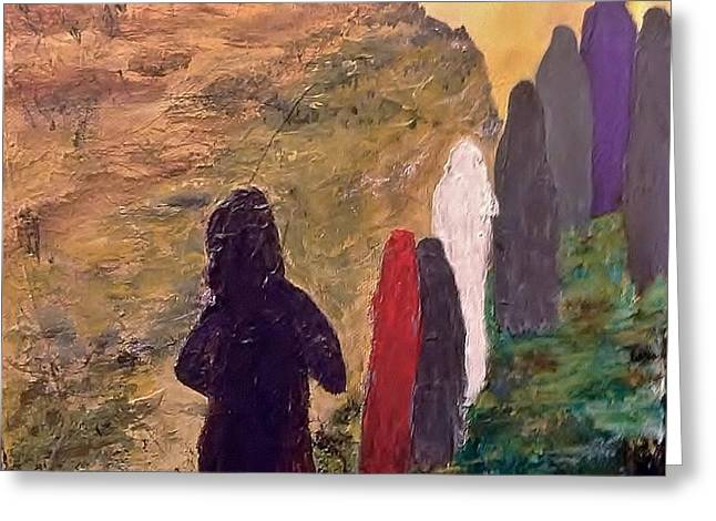 Survivors  Greeting Card by Bruce Combs - REACH BEYOND