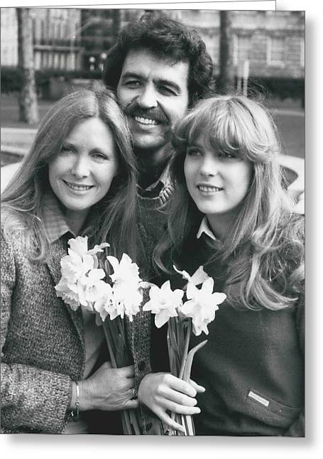 Susan Howard-donna Culver Of Dallas' Arrives In London Greeting Card by Retro Images Archive