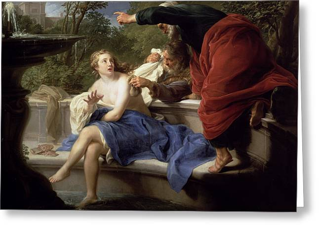 Susanna And The Elders, 1751 Greeting Card by Pompeo Girolamo Batoni