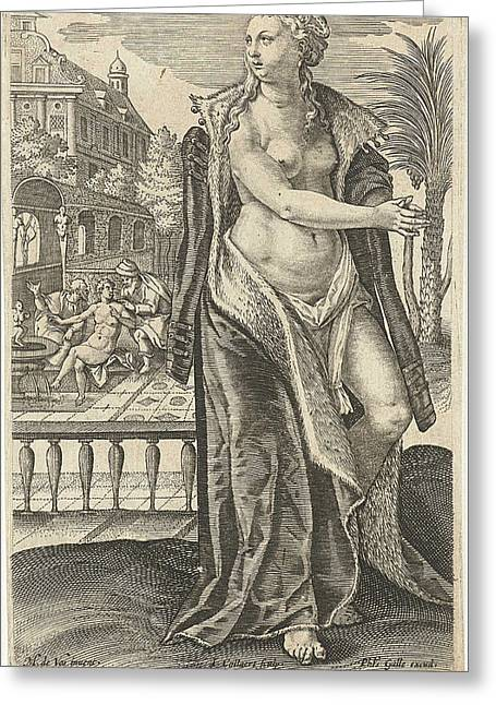 Susanna, Jan Collaert II, Philips Galle, Cornelis Kiliaan Greeting Card by Jan Collaert Ii And Philips Galle And Cornelis Kiliaan