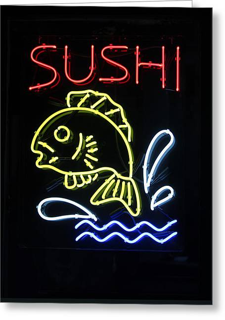 Sushi Greeting Card by Suzanne Gaff