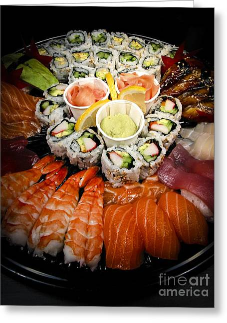 Sushi Tray Greeting Card
