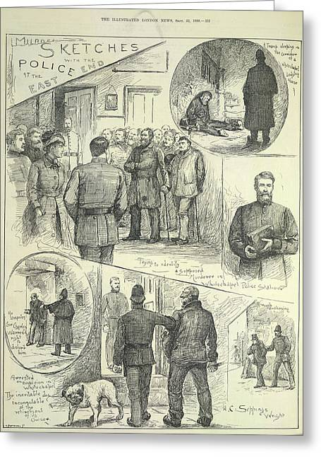 Suspects Arrested Greeting Card by British Library