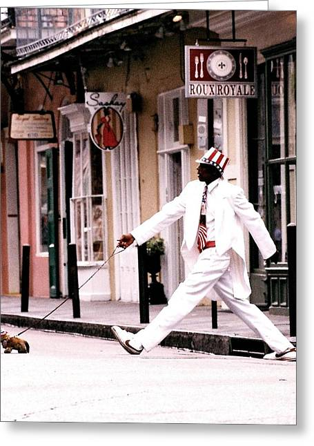 New Orleans Suspended Animation Of A Mime Greeting Card