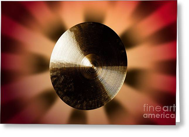 Suspended Or Ride Cymbal Photograph In Color 3332.02 Greeting Card by M K  Miller