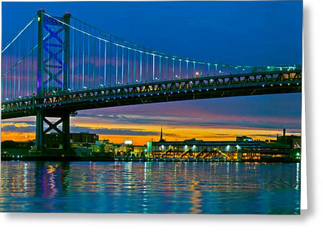 Suspension Bridge Across A River, Ben Greeting Card