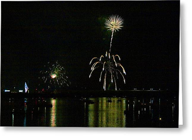 Susquehanna 4th Of July Spectacle Greeting Card by Gene Walls