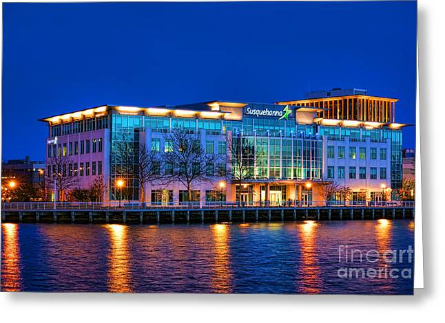 Susquehanna Bank Building In Camden Greeting Card by Olivier Le Queinec