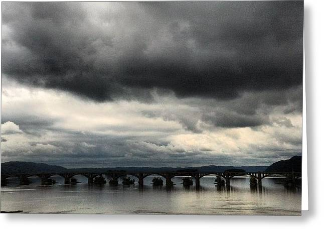 Susquehanna River Bridge Greeting Card
