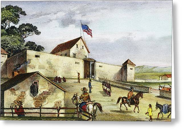 Sutter's Fort, 1849 Greeting Card by Granger