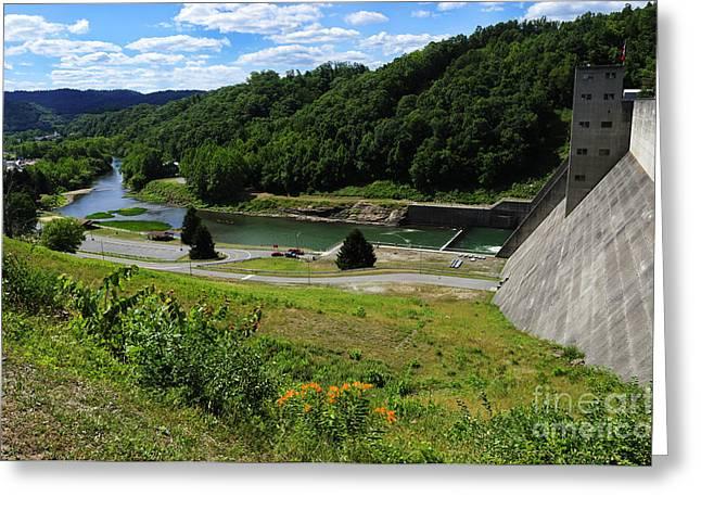 Sutton Dam Greeting Card by Thomas R Fletcher