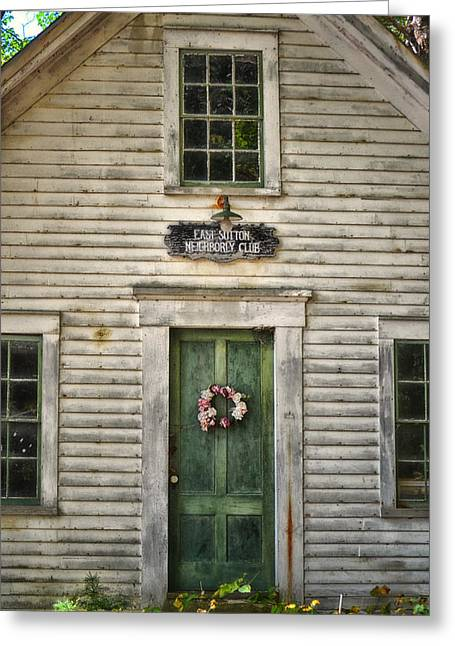 Sutton N H  Meeting House Greeting Card by Tricia Marchlik