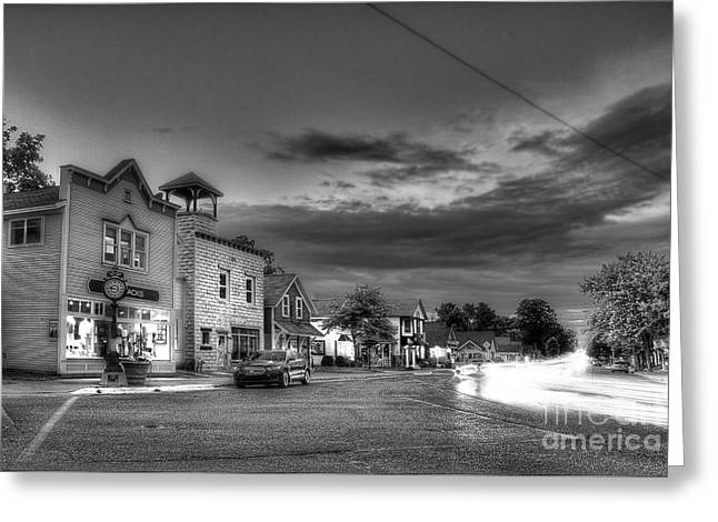 Sutton's Bay In Black And White Greeting Card by Twenty Two North Photography