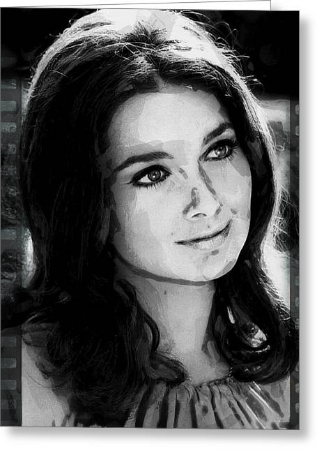 Suzanne Pleshette Greeting Card by Daniel Hagerman