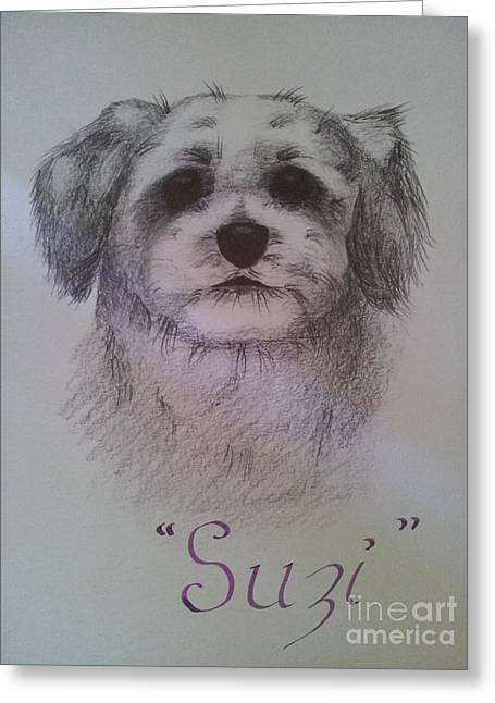 Suzi Greeting Card by Debra Piro