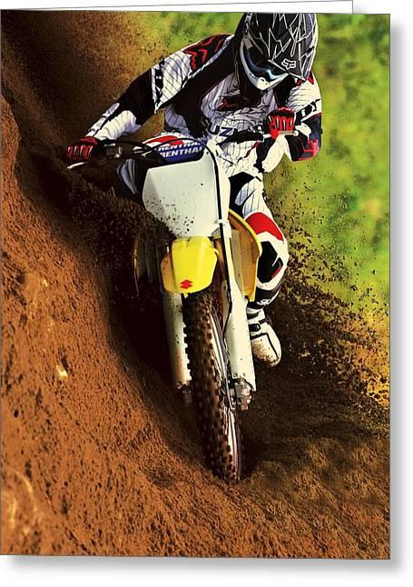 Suzuki Hill Climb 2 Greeting Card