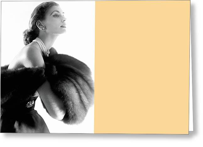 Suzy Parker Greeting Card by Horst P. Horst