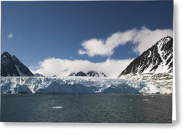 Svalbard Glacier, Norway Greeting Card by Science Photo Library
