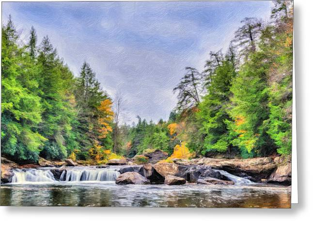 Swallow Falls Oil Painting Greeting Card