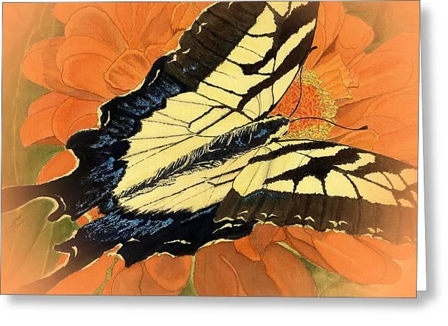 Swallow Tail Vignette Greeting Card by Joel Deutsch