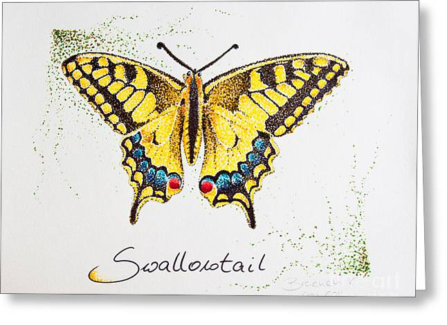 Swallowtail - Butterfly Greeting Card by Katharina Filus