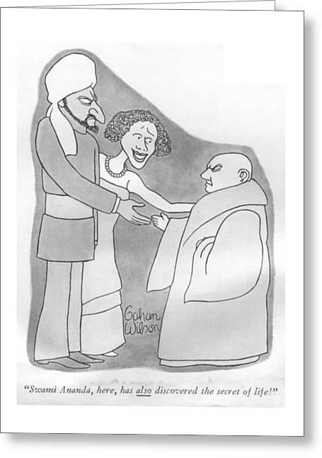 Swami Ananda Greeting Card by Gahan Wilson