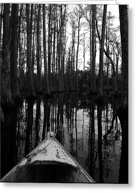 Swamp Boat Greeting Card