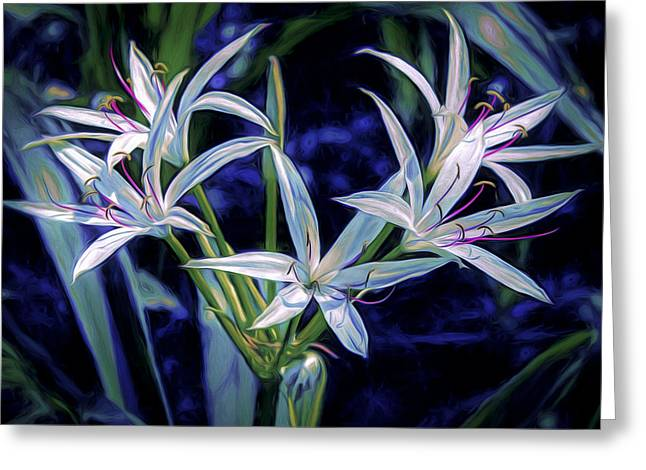 Greeting Card featuring the photograph Swamp Lilies by Steven Sparks