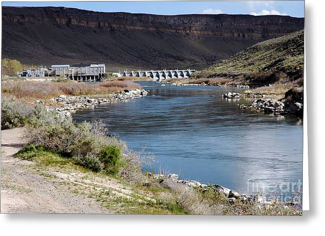 945a Swan Falls Dam Snake River Birds Of Prey Area Greeting Card