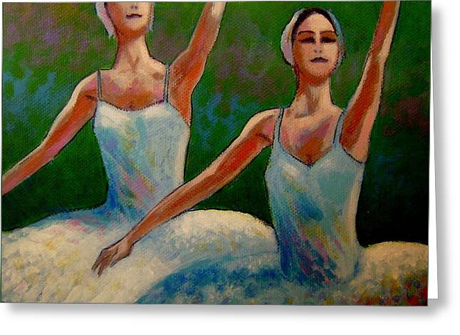 Swan Lake II Greeting Card by John  Nolan