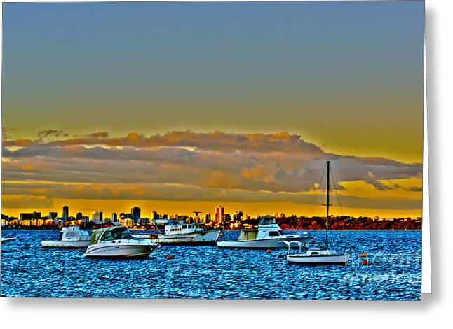 Swan River I Greeting Card by Cassandra Buckley