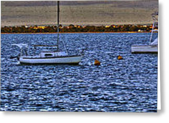 Swan River Panorama Greeting Card by Cassandra Buckley