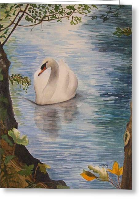 Swan Song Greeting Card