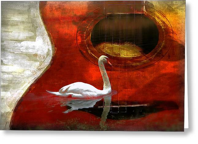 Swan Song Greeting Card by Wendy Mogul