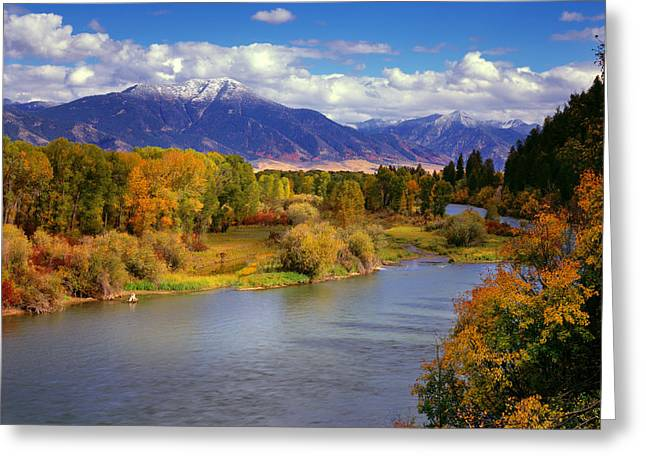 Swan Valley Autumn Greeting Card by Leland D Howard