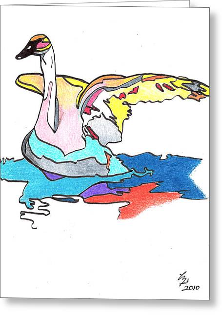Swan2010 Greeting Card
