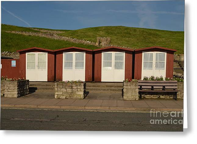 Greeting Card featuring the photograph Swanage Beach Huts by Linsey Williams