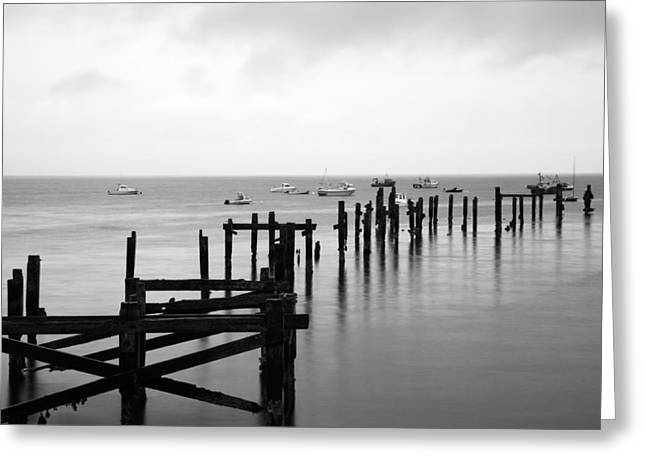 Greeting Card featuring the photograph Swanage Old Pier by Ian Middleton