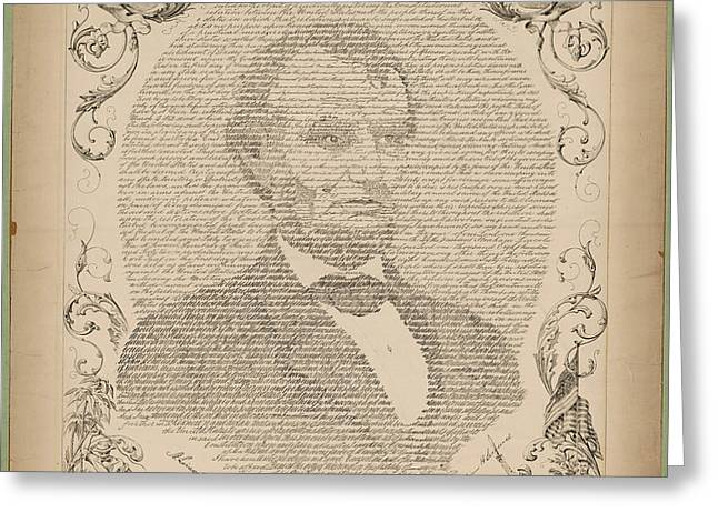 Swander Bishop And Co Copy Of The Emancipation Proclamation Greeting Card by MotionAge Designs