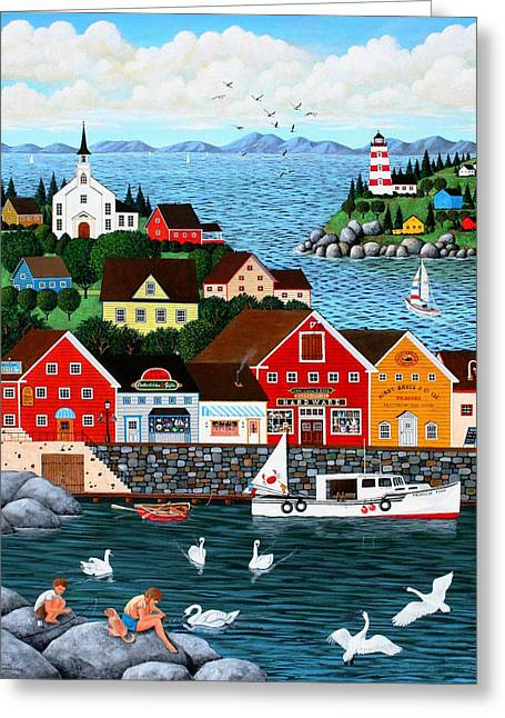 Swan's Cove Greeting Card