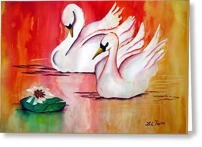 Swans In Love Greeting Card