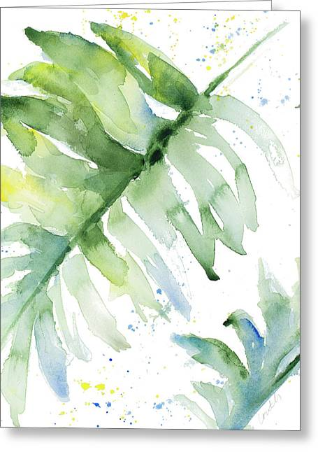 Swaying Palm Fronds I Greeting Card by Lanie Loreth
