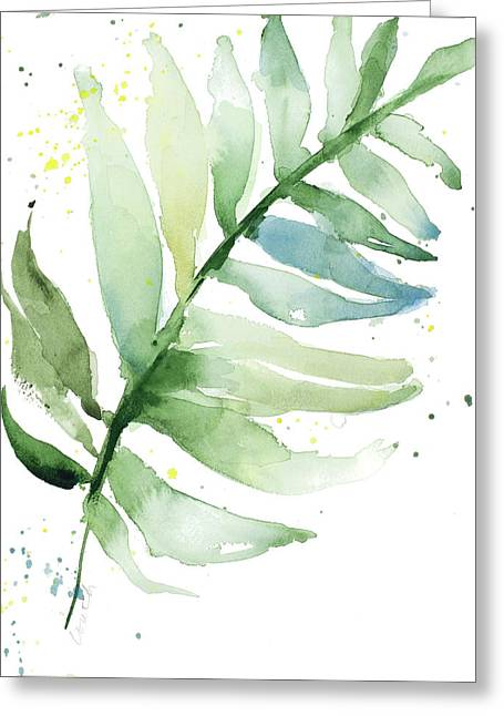 Swaying Palm Fronds II Greeting Card by Lanie Loreth