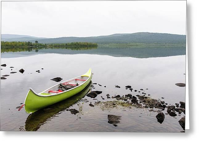 Sweden, Norrbotten, Torne River Greeting Card