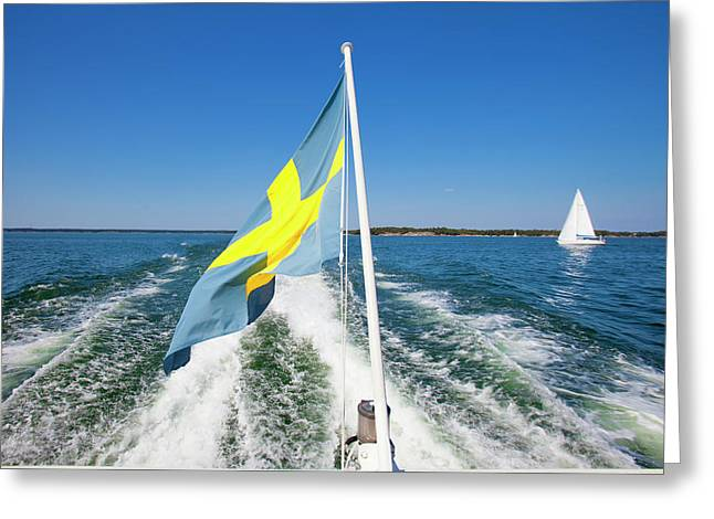 Sweden - Sailing In Stockholm Greeting Card by Panoramic Images