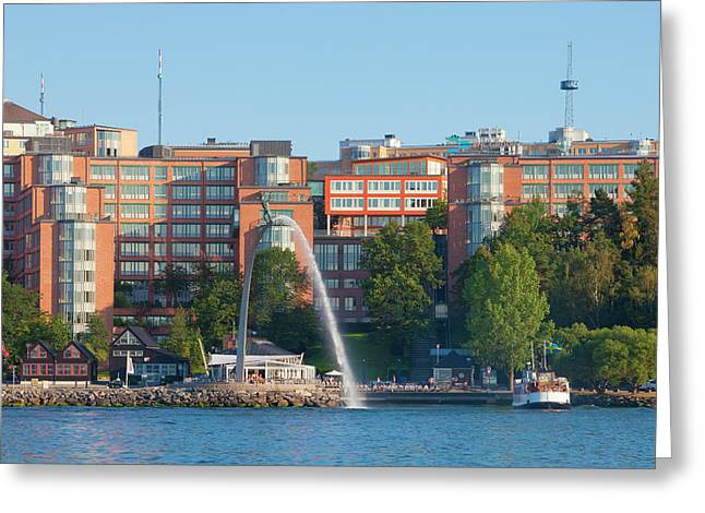 Sweden, Stockholm - Modern Offices Greeting Card by Panoramic Images