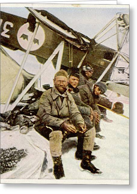 Swedish Aviator Lundborg, Who Greeting Card by Mary Evans Picture Library
