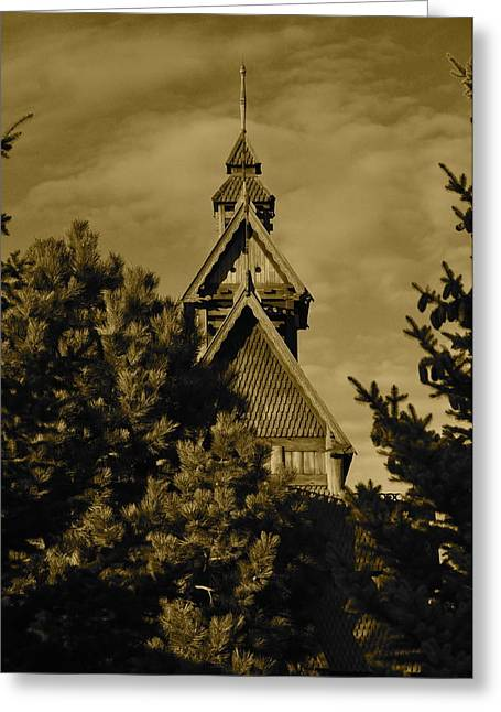 Swedish Church  Greeting Card by Cherie Haines