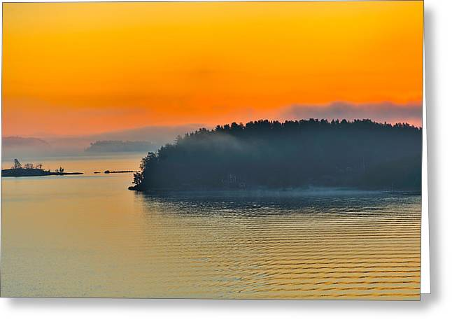 Swedish Sunrise Greeting Card by Marianne Campolongo
